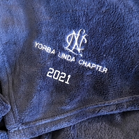 NCL Embroidered Plush Blanket with Year