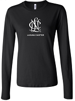 NCL-L34 Ladies Long Sleeve Crew Neck T-shirt Center Logo