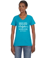 Lake Forest Dedicated Dolphin Ladies V Neck