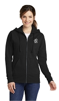 Ladies Full Zip Hooded Sweatshirt - Embroidered