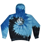 NCL-L37 Tie-dye Pullover Hoodie with Center Logo
