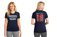 Patriots Tailgate 2019 Ladies Performance Tee Shirt