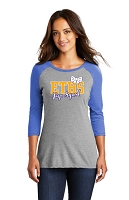 ETHS Pep Squad Ladies 3/4 sleeve jersey