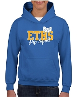 ETHS Pep Squad Bow Hooded Pullover