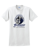 Fairmont Warriors White Unisex Tee Shirt