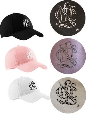 Cap with bling logo (replace embroidery) - actual design may vary
