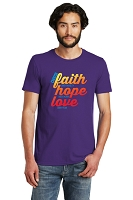 Choose Faith Hope Love Unisex Ringspun Cotton T-shirt