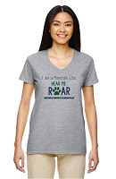 Hear Me Roar Ladies V-neck